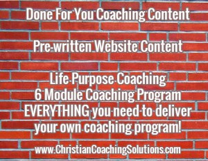 Done for you coaching content